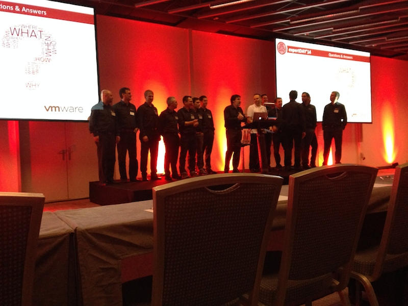 All the speakers of the expertDAY'14 on stage.